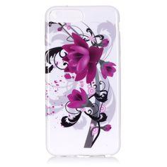 Coque iPhone 7 Plus Purple Flowers