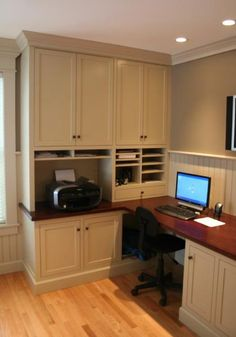 30 Corner Office Designs And Space Saving Furniture Placement Ideas. Small  Home ...
