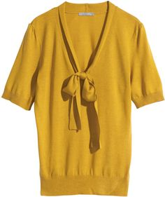H&M Lyocell-blend Top - Mustard yellow - Ladies on shopstyle.com $18