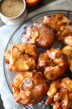 Fresh Peach Fritters | The Seaside Baker