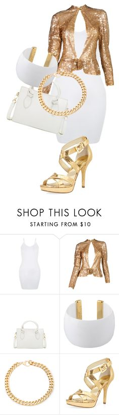 """""""Lookin Nice, But Not For You!"""" by shootunicorns ❤ liked on Polyvore featuring Foley + Corinna, Gogo Philip, Alessandra Rich and MICHAEL Michael Kors"""