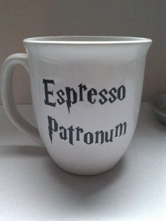 Harry Potter Espresso Patronum mug on Etsy, $7.00