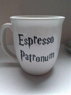 Harry Potter Espresso Patronum mug on Etsy, $7.00