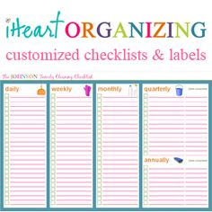 "IHeart Organizing: March Challenge: Project ""Household Binder"" {Let's Eat!}"