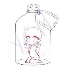 Una niña atrapada en un frasco