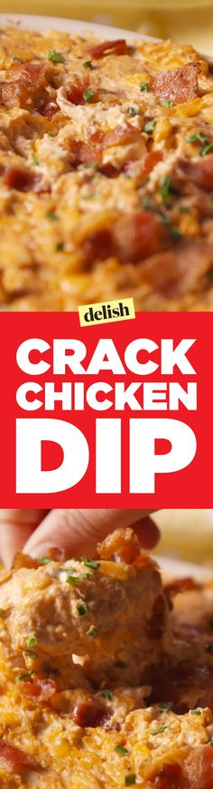 Crack chicken dip will be your go-to party appetizer for fall. Get the recipe on Delish.com.