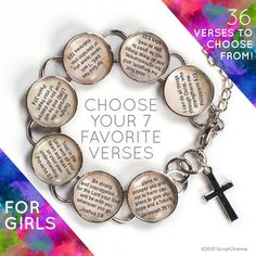Pick Your Own 7 Charm Girls Customized Bible by ScriptCharms