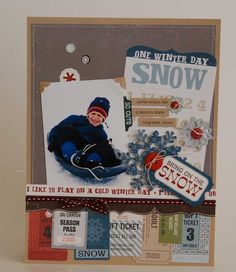 Bring on the Snow by designer Jennifer Gallacher - from Echo Park