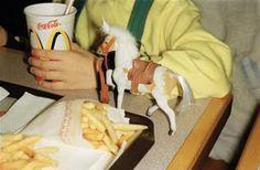 THAILAND. Bangkok. Fast food in McDonalds. 1998.