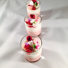 """Today verrines: berries Cremeux , coconut Panna cotta , strawberry meringue, coconut rock, strawberry foam , coconut Malibu cream @stregisbalharbour…"""