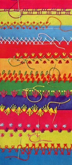 'McCall's how to quilt it!' page of crazy cute crazy quilt stitches!