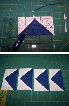 flying geese 12 - quilt piecing