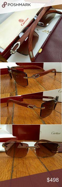 8c2c3e2953 🔥SALE🔥Silver Wood Vintage Cartier Glasses Vintage C-Decor Cartier 👉  Unisex.