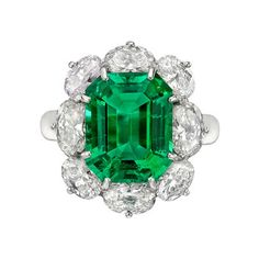 Betteridge Collection 6.10 Carat Emerald & Diamond Cluster Ring | Betteridge