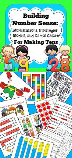 This 180 page bundle is packed full of strategies, games, math centers, models, and so much more for the primary learner. Everything you need to build a strong foundation in number sense. Elementary Math, Kindergarten Math, Teaching Math, Primary Teaching, Teaching Aids, Primary Classroom, Upper Elementary, Classroom Ideas, Math Activities