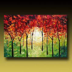 I love palette knife painting... Tree Painting Original Large by GoldieK.