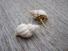 Crafts with shells - 50 cool decoration ideas - cool idea for diy earrings with. - Crafts with shells – 50 cool decoration ideas – cool idea for diy earrings with small sea snails as a creative gift idea Best Picture For jewelry – Seashell Jewelry, Seashell Art, Seashell Crafts, Beach Jewelry, Beach Crafts, Crafts With Seashells, Seashell Nails, Seashell Frame, Ocean Jewelry