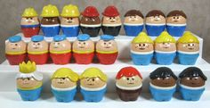 Lot Of 22 Little Tikes Toddle Tots People Figures Firemen Construction King  #LittleTikes