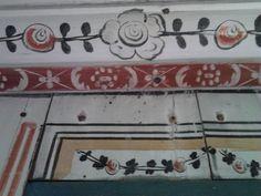 Detail of wall painting by Djufwas Anders Ersson. http://boka.visitdalarna.se/se-gora/a107108/djura-hembygdsgard/detaljer