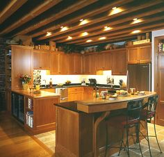 exposed ceiling lighting corridor 60 amazing shaped kitchen ideas with peninsula aboutruth alex madsen basement exposed joist lighting 25 best images on pinterest in 2018
