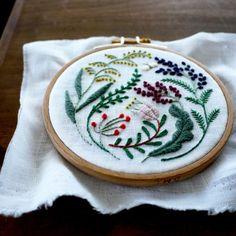 wool embroidery by yumiko higuchi