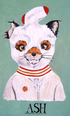 Fantástico Sr. Fox imprime  conjunto de cuatro impresiones de