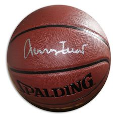 Jerry West Autographed Indoor/Outdoor Basketball - APE COA