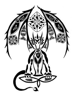 here is my no 200 tattoo, i uploaded this newer version because of its better quality. Celtic Symbols, Celtic Art, Los Primates, 4 Wallpaper, Celtic Dragon, Celtic Tattoos, Dragon Tattoos, Celtic Designs, Symbolic Tattoos
