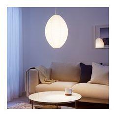 IKEA - SOLLEFTEÅ, Loftlampeskærm, , Lav din egen personlige loftlampe ved at kombinere lampeskærmen med et ledningssæt efter dit valg.Du kan skabe en blød og hyggelig stemning i dit hjem med en lampeskærm af papir, der giver diffus og dekorativ belysning.