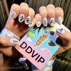 My nails are ready for tonight's #DuranDuran show at the #HollywoodBowl!  Can't wait!  @duranduran #PaperGods #nails #Nailart #durandurannails