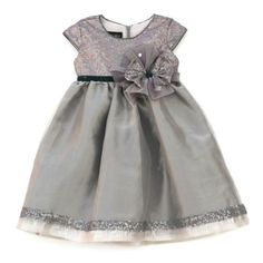 NWT Isobella & Chloe Silver Infant Toddler Girls Holiday Dress 18m 24m 2T