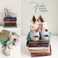 Do it yourself wedding shoes but it could work for any dress you diy floral ankle straps cute for wedding shoes or smaller flowers for a little solutioingenieria Gallery