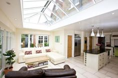 6 bedroom detached house for sale in Priory Road, Hampton - 17452320 Cottages For You, Cottages And Bungalows, Conservatory Dining Room, Conservatory Ideas, Cottage Extension, Open Plan Kitchen Living Room, Hamptons House, House Extensions, Lounge Areas