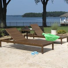 Panama Jack Outdoor 3-Piece St Barths Chaise Lounge Set, Includes 2 Chaise Lounges and 1 End Table - http://rustic-touch.com/panama-jack-outdoor-3-piece-st-barths-chaise-lounge-set-includes-2-chaise-lounges-and-1-end-table/
