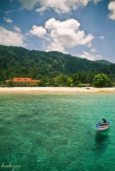 Tioman Island, Malaysia One of the most beautiful islands in the world and has a jungle ground internally.