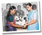 sewing machine project, giving away machines to groups