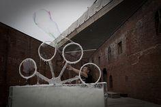 interactive Soap bubble machine sculpture