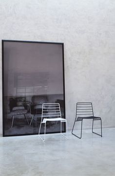Park Stackable chair - Metal Black by B-LINE £233