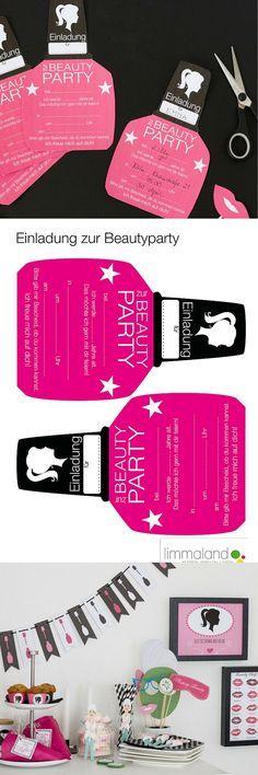 Kindergeburtstag Einladung Mädchen   Partyeinladung Zum Ausdrucken:  Http://www.limmaland.