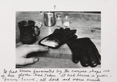 The pleasures of the glove, printed later) by Duane Michals :: The Collection :: Art Gallery NSW Poetry Photography, Mixed Media Photography, History Of Photography, Conceptual Photography, Artistic Photography, Duane Michals, Francesca Woodman, Photo Sequence, Film Inspiration