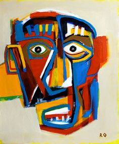 Abstract Face By Artist Reinder Oldenburger