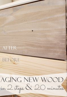Make new wood look old and weathered in minutes! Just like drift wood. It only takes 2 steps