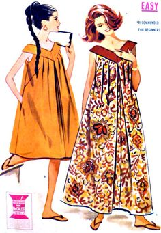 1960s Vintage Muu Muu Dress Pattern Easy to by VintageNeedleFinds, $15.00