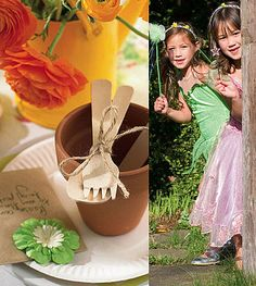 This party is perfect for 3-5 year olds with a sense of an adventure and a love of frilly, beautiful things!Party InvitationsGet some plain cards and paper to write your invitation on. Pop a package of flower seeds inside the envelope, and sew a paper