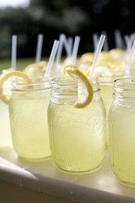 Mason jars for lemonade