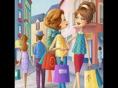 Nina De San Decoupage, Avatar Picture, Illustration Noel, Holly Hobbie, Cute Images, Cute Woman, Naive, Cute Art, Art Girl