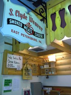 S.Clyde Weaver stall at Central Market, Lancaster PA