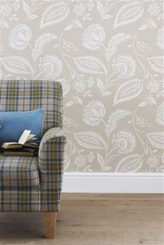 Buy Natural Surface Floral Wallpaper from the Next UK online shop Home Comforts, Next Uk, Latest Fashion For Women, Cosy, Printing On Fabric, Accent Chairs, New Homes, Uk Online, Wallpaper