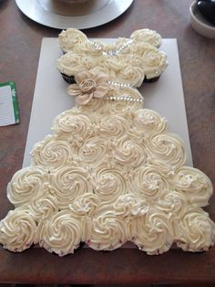 Burlap Bridal shower cupcake dress
