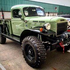mandersono: The power wagon by (at Napleton Chrysler Jeep Dodge Ram) Ram Trucks, Old Dodge Trucks, Old Pickup Trucks, Diesel Trucks, Cool Trucks, Dodge Cummins, Dodge Diesel, Cummins Diesel, Jeep Dodge